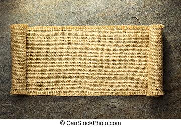 burlap hessian sacking on background texture