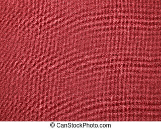 Burlap Red Fabric Texture Background