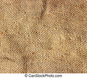 Burlap texture - Textured background of a brown burlap cloth...
