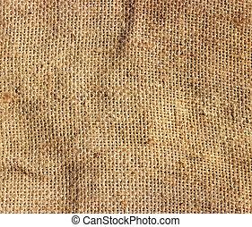 Burlap texture - Textured background of a brown burlap cloth