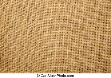 Burlap texture - textured background of beige fabric