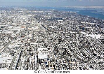 Burlington Ontario Winter aerial