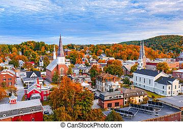 Burlington, Vermont Skyline - Burlington, Vermont, USA ...