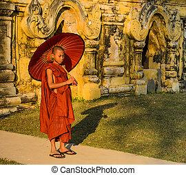 Burmese Buddhist novice