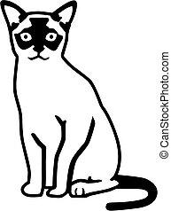 Burmese cat vector