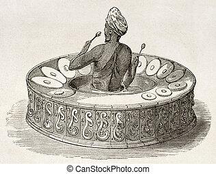 Burmese drum-harmonica - Burmese drum-armonica (Pattshaing)...