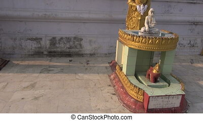 burmese myanmar buddhist temple in Kushinagar, India