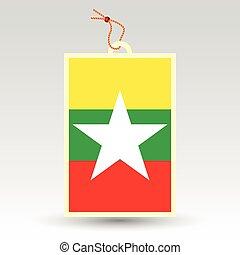 burmese price tag - vector simple burmese price tag - symbol...