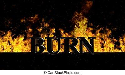 Burn Burning Hot Word in Fire