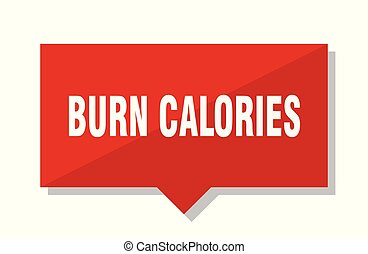 burn calories red tag - burn calories red square price tag