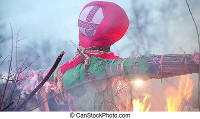 Burn doll on Shrove Tuesday