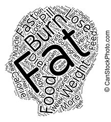 Burn Fat fast text background wordcloud concept