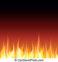 Burn flame fire vector background, Zip includes 300 dpi JPG, Illustrator CS, EPS10. Vector with transparency.
