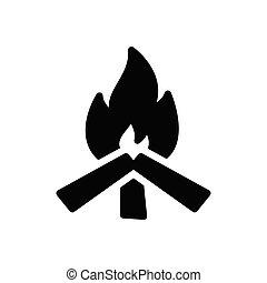 burn glyph flat icon