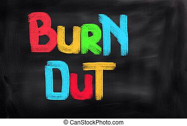 Burn Out Concept
