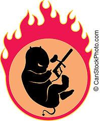 burn - Small demon in a fiery womb
