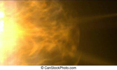 burn sun and stars,golden nebula and whirl laser,energy tech...
