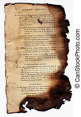 Burned book - Close up of burned book for background