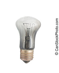 burned bulb on white background