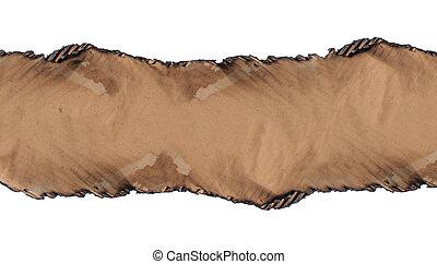 Burned cardboard paper frame