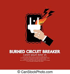 Burned Circuit Breaker.