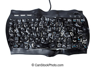 Burned keyboard - Burned and broken computer keyboard...