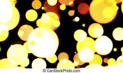 Burned lignt bokeh on a dark.