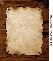 Burned Old paper