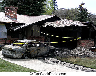 House and car both gutted by fire