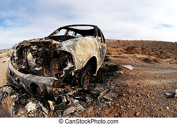 Burned Out SUV