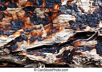 burned surface