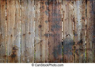 Burned timber fence