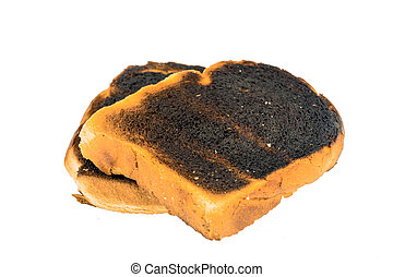 burned toast bread slices - toast the toast was burnt. burnt...