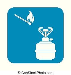 burner - Camping stove icon vector. Vector illustration.