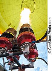 Burners of hot air balloon