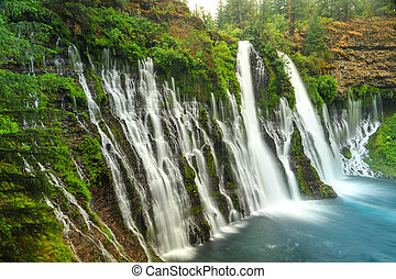 Burney Falls waterfall in California near Redding - A ...