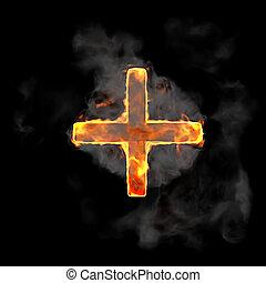 Burning and flame font plus symbol