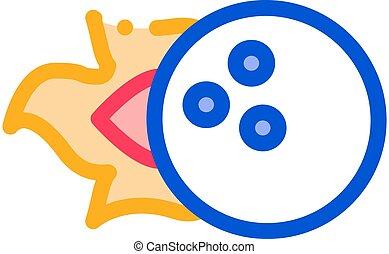 Burning Ball Icon Vector Outline Illustration
