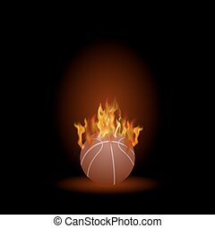 Burning Basketball Orange Ball Icon