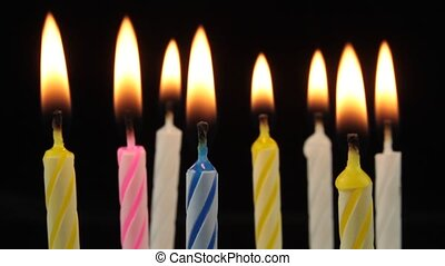 Burning birthday candles