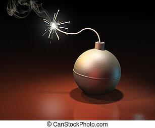 Burning bomb