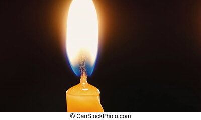 Burning candle. Celebration event or religious memorial...