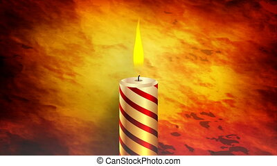 burning candle in the dark - Burning candle in the dark, art...