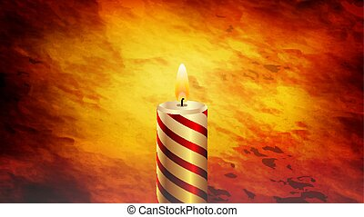 burning candle in the dark - Burning candle in the dark,...