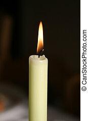 Burning Candle - white burning candle