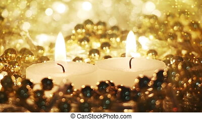 burning candles and fairy dust seamless loop