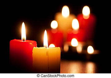 Burning candles - Closeup of burning candles