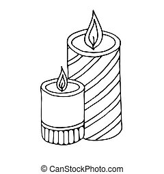 Burning candles icon