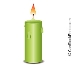 Burning candles illustration