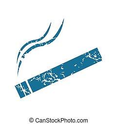 Burning cigarette grunge icon